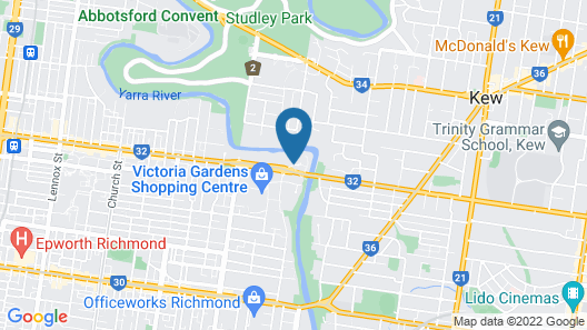 Abbotsford Haven on the Yarra Map