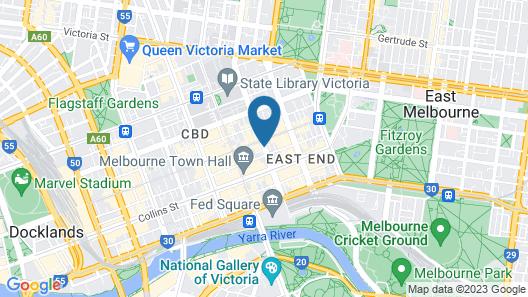 QT Melbourne Map