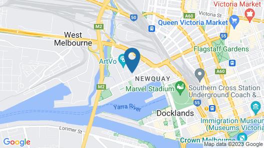 Melbourne Marriott Hotel Docklands Map