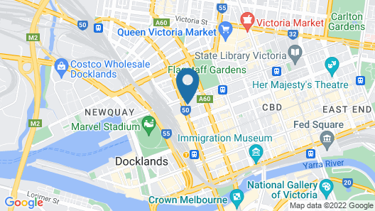 Atlantis Hotel, Melbourne Map