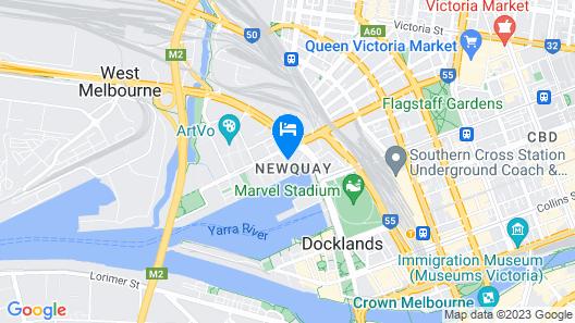 The Sebel Melbourne Docklands Map