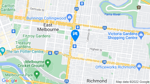 Australian Home Away @ Richmond Map