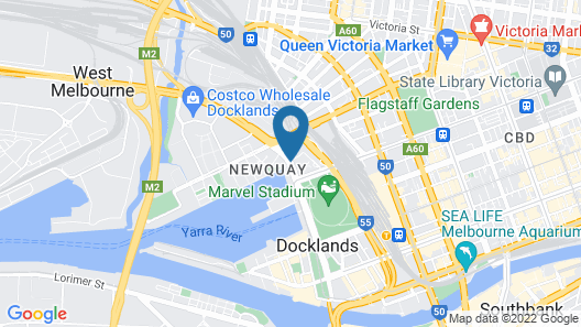 Docklands Private Collection of Apartments - Digital Harbour Map