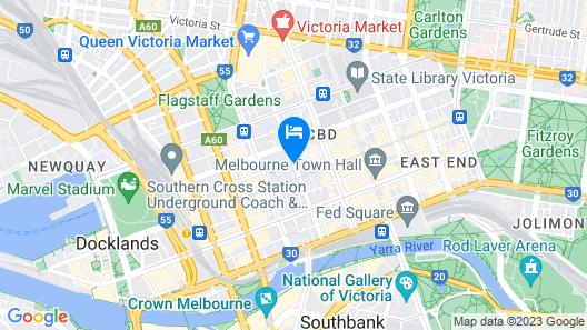Adina Apartment Hotel Melbourne Map