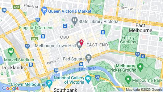The Victoria Hotel Melbourne Map