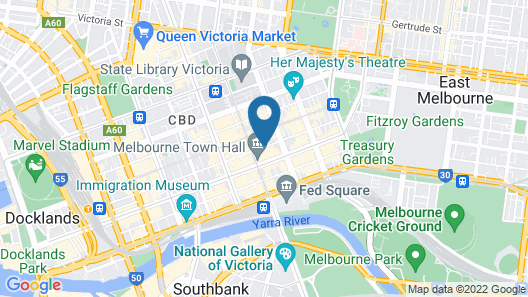 The Victoria Hotel Melbourne Map