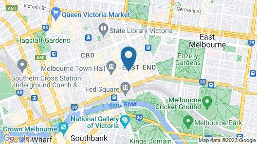 Grand Hyatt Melbourne Map