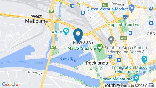 AKOM AT Docklands Map