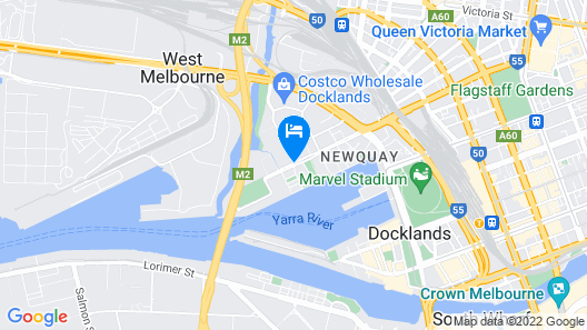 Four Points by Sheraton Melbourne Docklands Map
