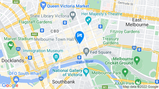 The Westin Melbourne Map