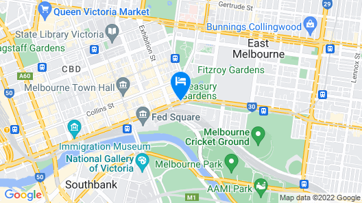 Hotel Lindrum Melbourne MGallery Map