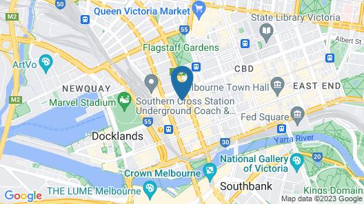 YEHS Hotel Melbourne CBD Map