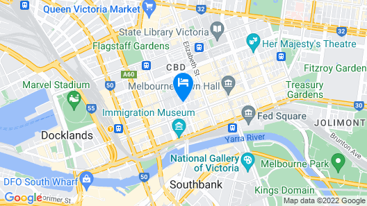 CitiClub Hotel Melbourne Map