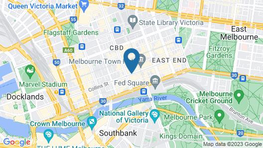 Novotel Melbourne on Collins Map