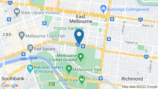 Pullman Melbourne on the Park Map