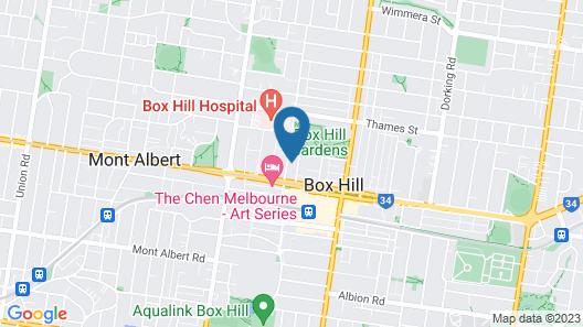Avani Melbourne Box Hill Residences Map