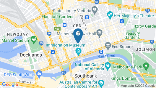 Metro Apartments on Bank Place Map