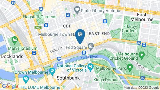 Flinders Lane-studio apartment Map
