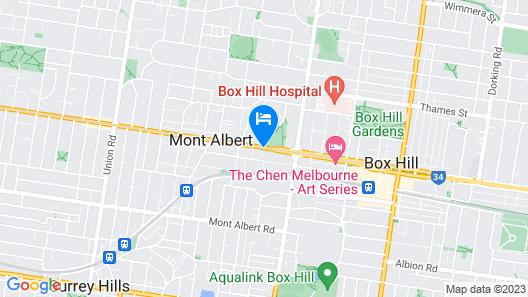 Motel Maroondah Map