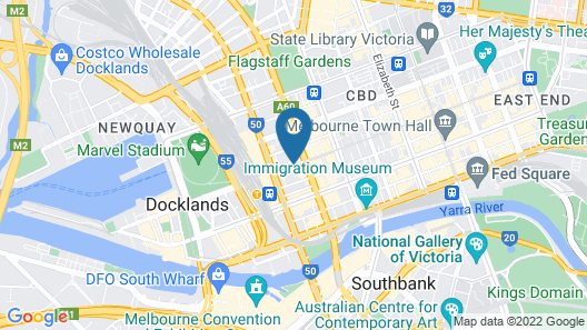 Alto Hotel on Bourke Map