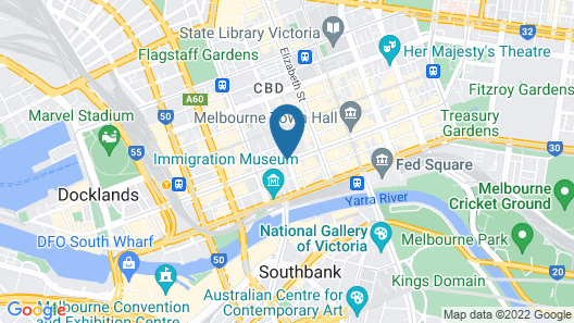 Treasury on Collins Apartment Hotel Map