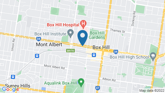 Boxhill Luxury Apartment Map