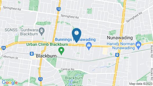 Nunawading Motor Inn Map