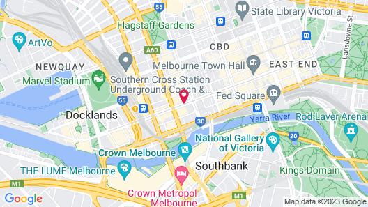 Oaks Melbourne on Collins Hotel Map