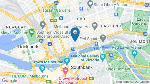 Oaks Melbourne on Market Hotel Map