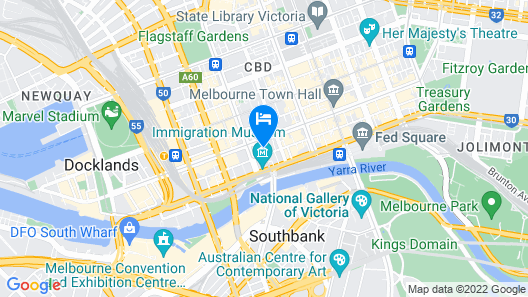 Oaks Melbourne on Market Hotel Map