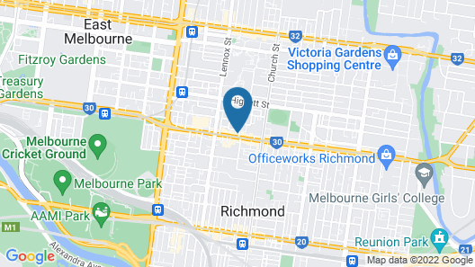 Richmond bosisto street (i) Map