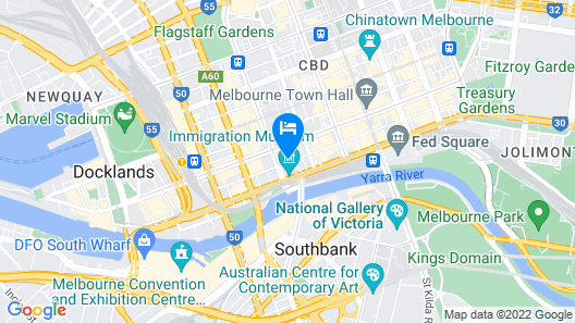 W Melbourne Map