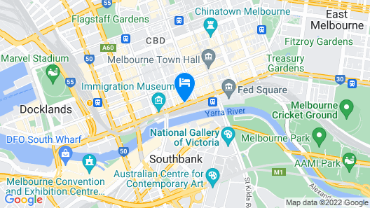 Rendezvous Hotel Melbourne Map