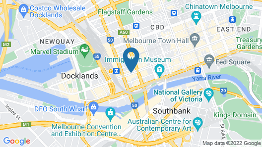 Melbourne SkyHigh Apartments Map