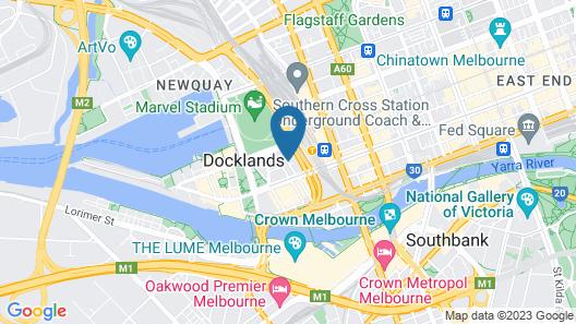 Travelodge Hotel Melbourne Docklands Map