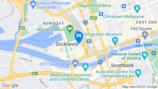 Travelodge Hotel Melbourne Docklands Map