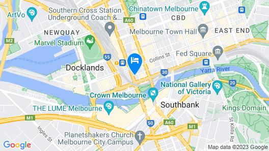 Holiday Inn Melbourne on Flinders, an IHG Hotel Map