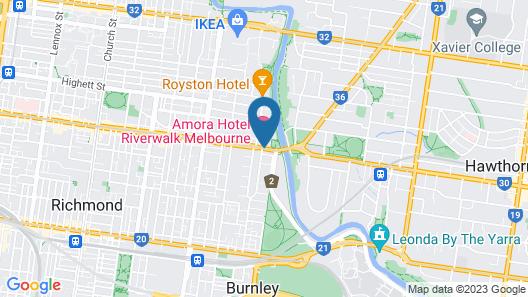 Amora Hotel Riverwalk Melbourne Map