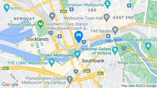 Riverside Apartments Melbourne Map