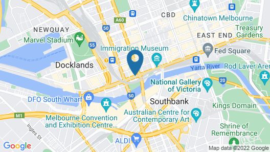 Aura on Flinders Serviced Apartments Map