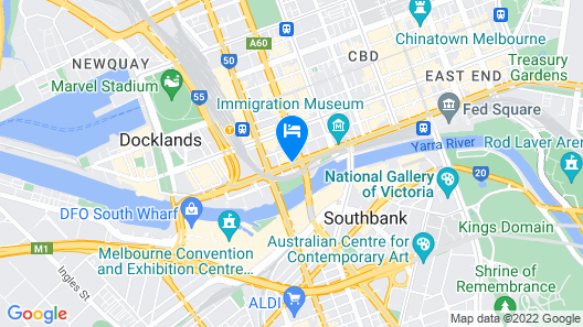 Aura on Flinders Serviced Apartments Map