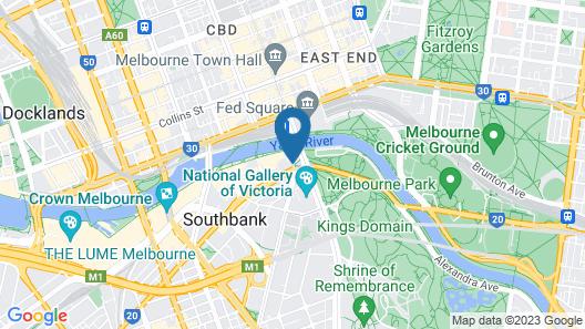 Southbank Apartments - 28 Southgate Map