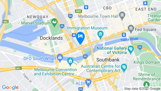 Grand Hotel Melbourne Map