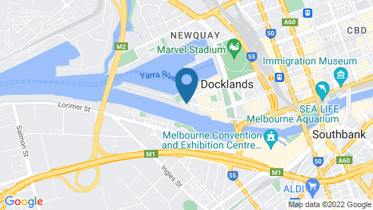 Winston Apartments Docklands Map