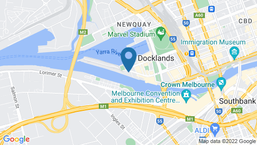 Melbourne Docklands Luxury Seaview Apartment Map