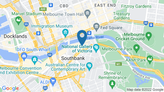Travelodge Hotel Melbourne Southbank Map