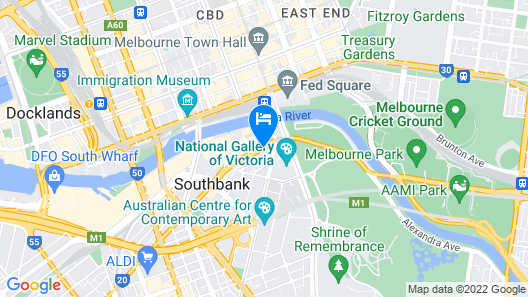 Mantra Southbank Melbourne Map