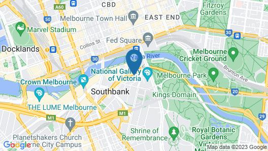 Holiday Inn Express Melbourne Southbank, an IHG Hotel Map