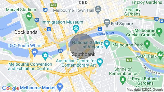 Luxury 2BR Apt With Yarra River View, Free Parking Map