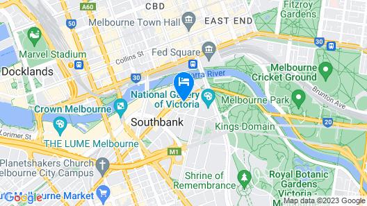 Oaks Melbourne Southbank Suites Map